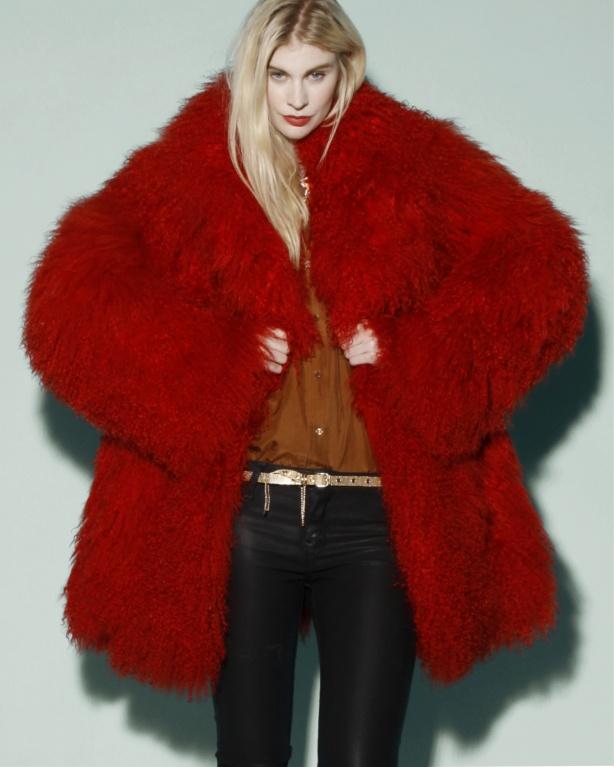 Red Fur Jacket