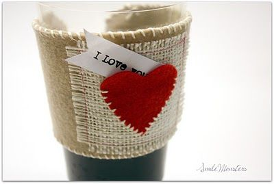 Valentines Felt Coffee Sleeve, so cute!