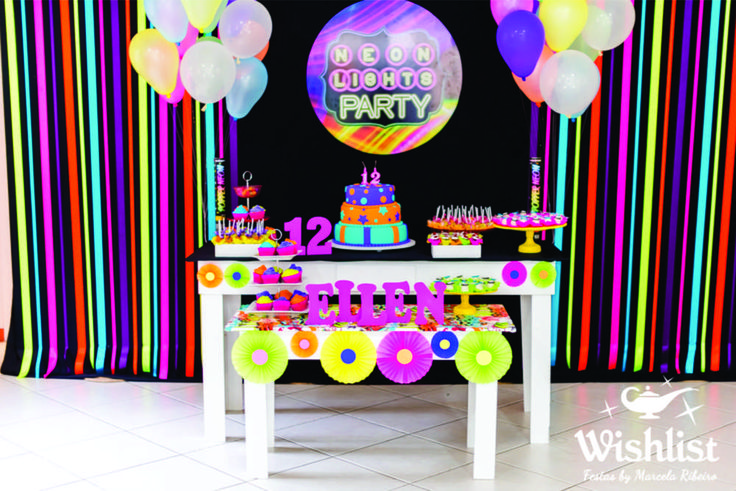 Neon Colors Birthday Party Ideas | Photo 10 of 31 | Catch My Party