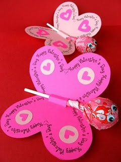 butterfly valentine lollipop