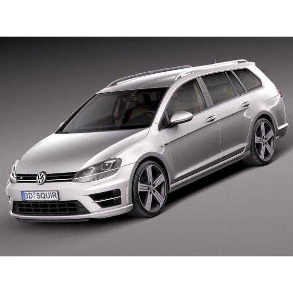 Volkswagen Golf VII R Variant 2015 - 3D Model