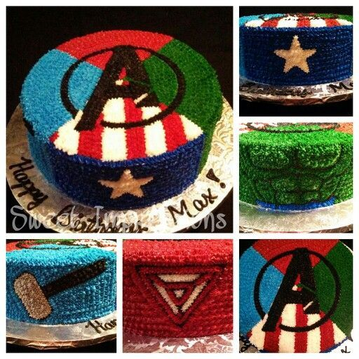 Avengers Cake.. If I got this cake for my birthday, I would probably pass out from excitement.