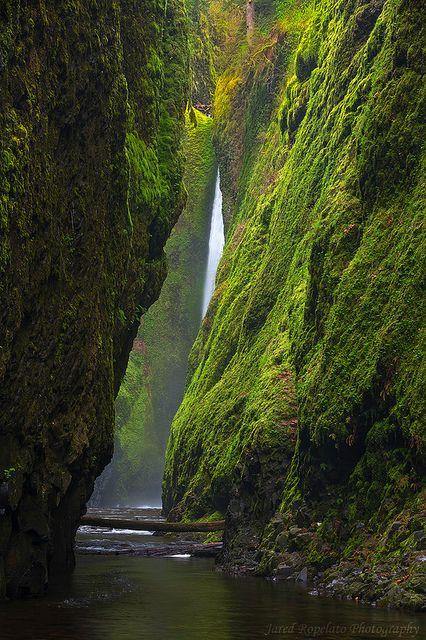 Oneonta Canyon Falls, Oregon - USA...So beautiful...KSS