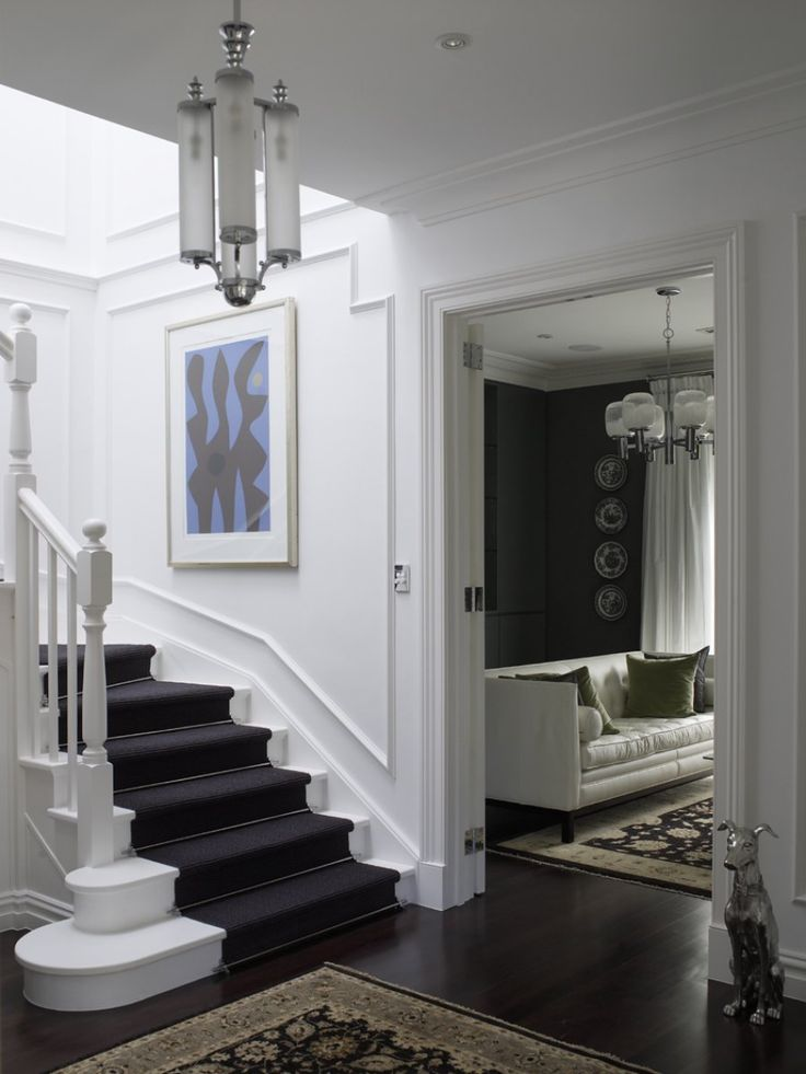 Foyer Ideas Australia : Dark floorboards and carpet stairs i love my dream