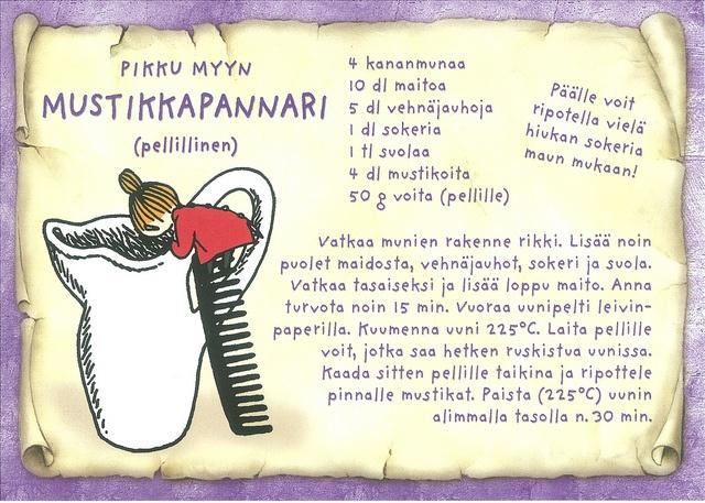 Pikku Myyn mustikkapannari - kortti