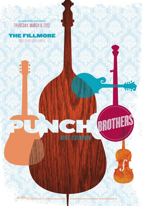 Poster: Punch Brothers at the Fillmore SF by Jim Schaaf, via Behance