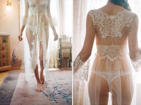 Lingerie para noivas românticas de Claire Pettibone. #casamento #noiva #lingerie