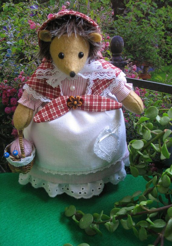 Art doll Beatrix Potter   Hedgehog   Tiggy by dollsandbunnies, $46.50