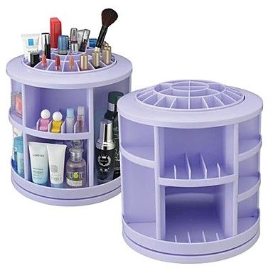 360 ° Rotating Cosmetics Storage Stand Box Makeup Brush Pot Cosmetic Organizer(3 Selectable Colors) – CAD $ 69.49