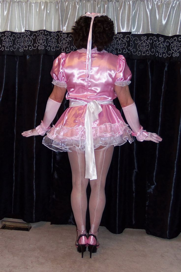 Pink Satin Maid Dress In 2019 French Maid Dress Maid