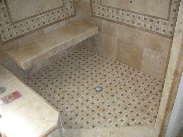 aluminum shower bench tiled bathroom pinterest