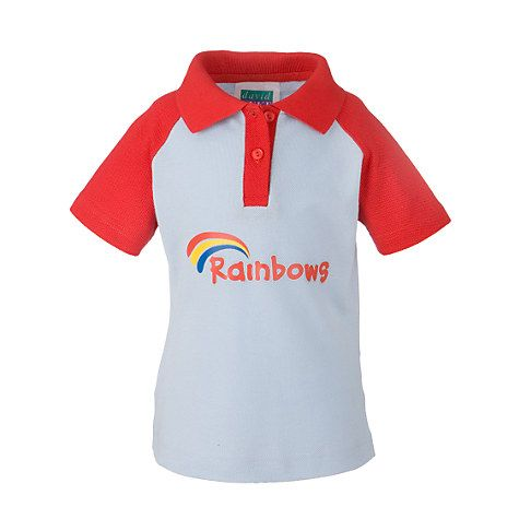 Buy Rainbows Uniform Short Sleeve Polo Shirt, Red Online at johnlewis.com