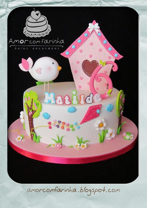 Little+bird+-+Cake+by+AmorcomFarinha
