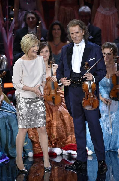 Andre Rieu Photos - Carmen Nebel and Andre Rieu during the tv show 'Heiligabend mit Carmen Nebel' on November 23, 2016 in Munich, Germany. The show will air on December 24, 2016. - Andre Rieu Photos - 16 of 343