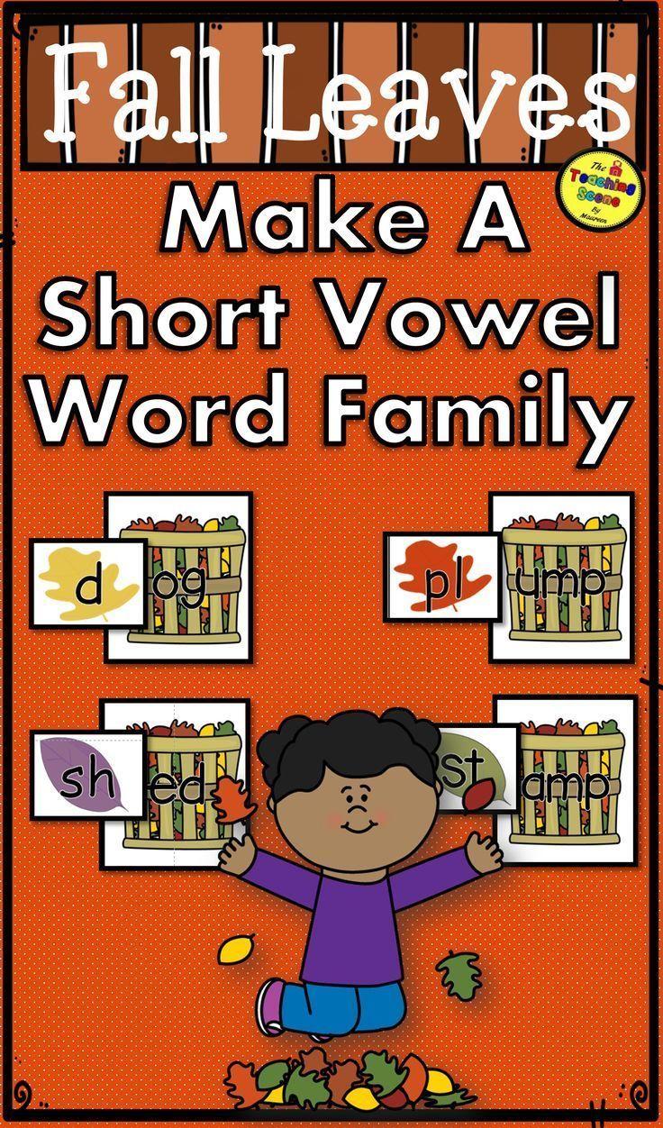 Herbstblätter bilden ein kurzes Vokal-Wortfamilienzentrum – Units of Study