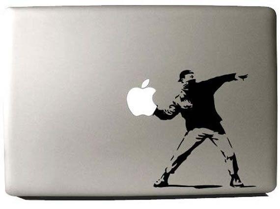 #creative #Decals #Etsy #luxury #MacbookPro #stickers #vinyls #inspiration #art #designMac Decals, Banksy Decals, Awesome Products, Apples Decals, Mac Art, Decals Vinyls, Banksy Molotov, Molotov Macbook, Macbook Pro