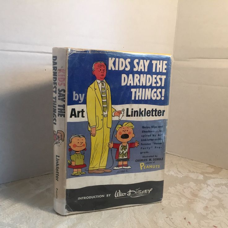 Vintage Hardcover Book Kids Say the Darndest Things by Art Linkletter / Illustrations by Charles Schulz / Snoopy and Charlie Brown by vintagepoetic on Etsy https://www.etsy.com/listing/245818776/vintage-hardcover-book-kids-say-the