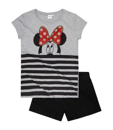 Disney Minnie Short Sleeve Pyjama black