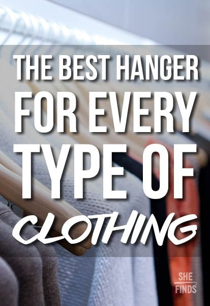 The best hanger for every piece of clothing