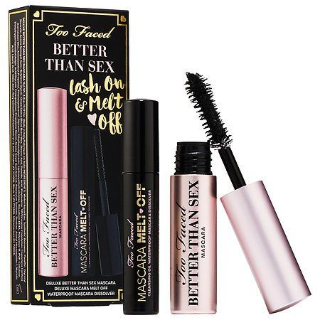 Too Faced Better Than Sex Lash On & Melt Off Set $10 (Black Friday) @ Sephora
