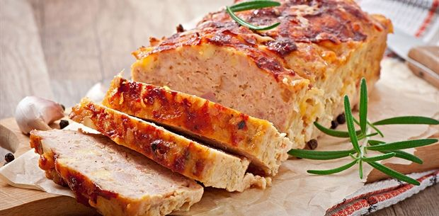 Crunchy parmesan veal and pork meatloaf