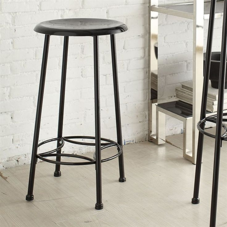 CAROLINA COTTAGE Whitman Industrial Black Counter Stool