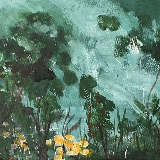 Detail of the painting 'Arcadia under the Wattle' by Andrea Hamann (Strongsoutherlyart)