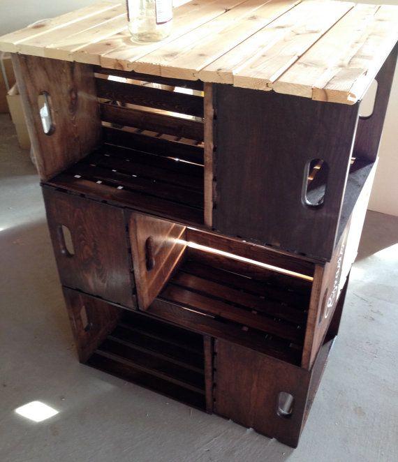 Diy Bookcase Kitchen Island: Best 25+ Crate Shelving Ideas On Pinterest