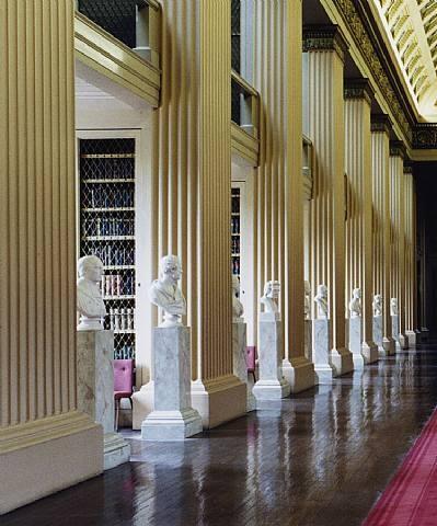 Playfair Library Hall, University of Edinburgh. I've sat an exam here. So distracting, the busts.