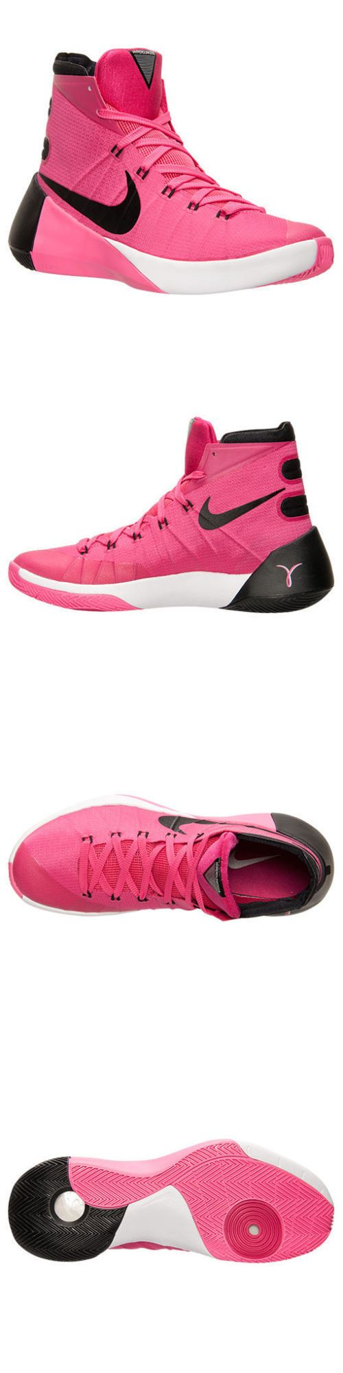 Basketball: $140 New Nike Hyperdunk Mens Basketball Shoes Size 14 Pink Black Breast Cancer BUY IT NOW ONLY: $129.99