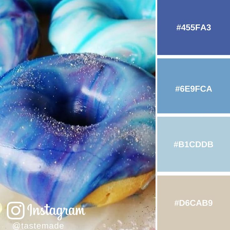 TASTEMADE  - GALAXY DONUTS - COLOUR MOOD BOARD.  For RECIPE, PHOTO CREDITS and HEX COLOURS go to: http://www.administrie.com/influencer-tastemade