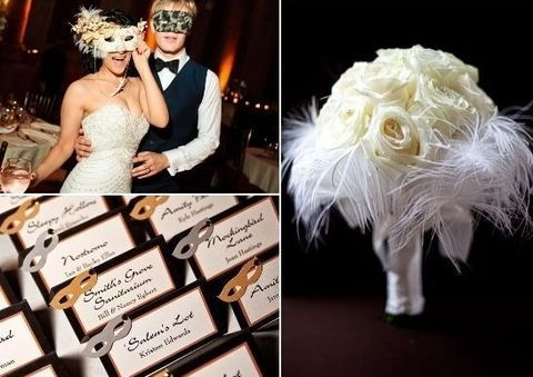 Masquerade weddings are getting popularity and have almost become a cool trend, they are агт at any time of the year but especially if you are having a Halloween wedding.