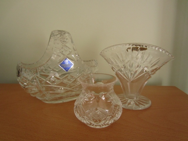 small glass vases