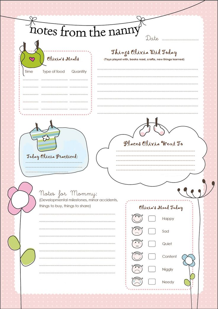 The 25+ best Nanny care ideas on Pinterest Babysitting boys - daily job report template