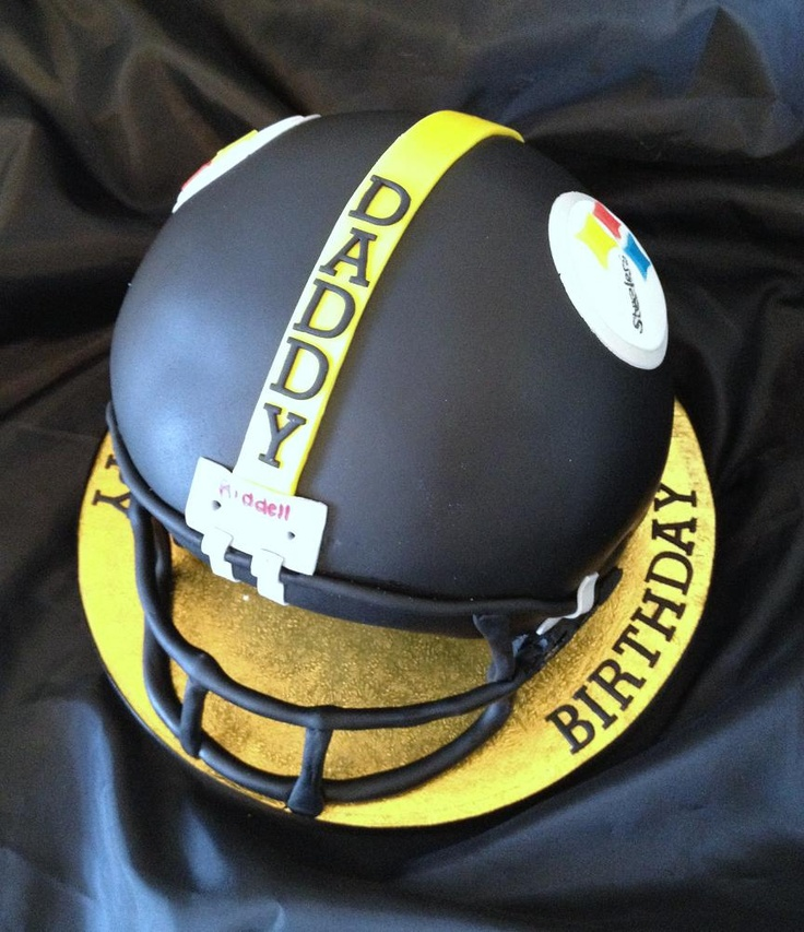 Pittsburg Steelers Helmet cake (surely this can be done ...