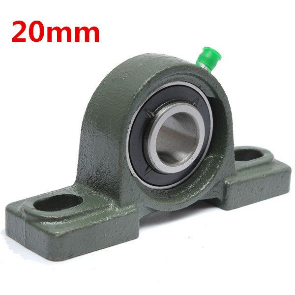 20mm Bore Diameter Zinc Alloy Pillow Block Mounted Ball Bearing Ucp204 Zinc Alloy Cnc Parts Zinc