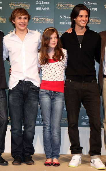 William Moseley, Georgie Henley and Ben Barnes Attend Press Conference promoting 'The Chronicle of Narnia Prince Caspian' at Park Hyatt Tokyo in Tokyo, Japan (19-5-2008)