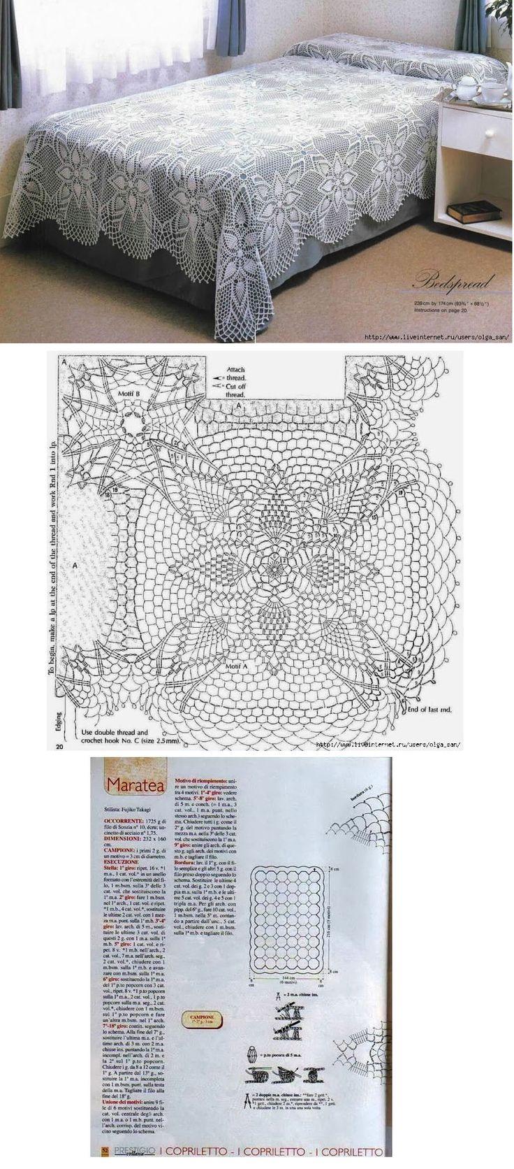 199 best Knit/Crochet Afghans, Blankets, Bedding images on Pinterest ...