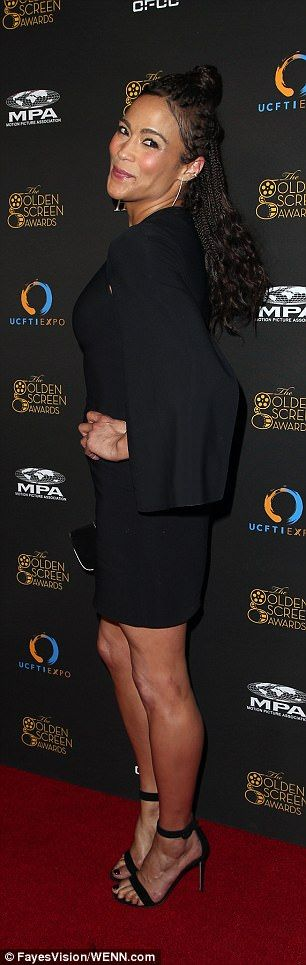 Paula Patton wears little black dress for awards in LA | Daily Mail Online
