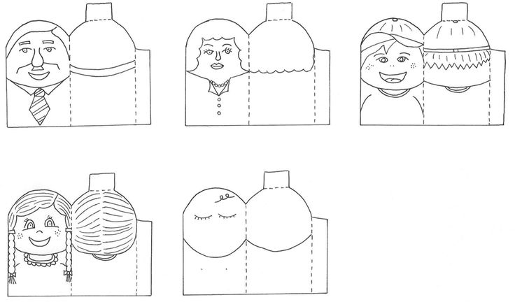 Family Finger Puppets Coloring Pages