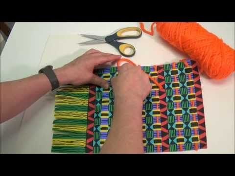 United Art and Education Original Art Project: Use weaving strips, markers and yarn to make a Kente Cloth wall hanging! http://www.unitednow.com/product/14160/paper-strip-kente-weaving-project-164.aspx