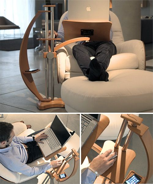 This would be much more ergonomic than a side table.