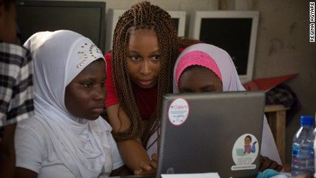 Agyare has enlisted high-flying university students to help out in the classroom, acting as mentors and role models for the girls.