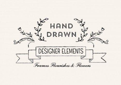 hand drawn designer elements 01