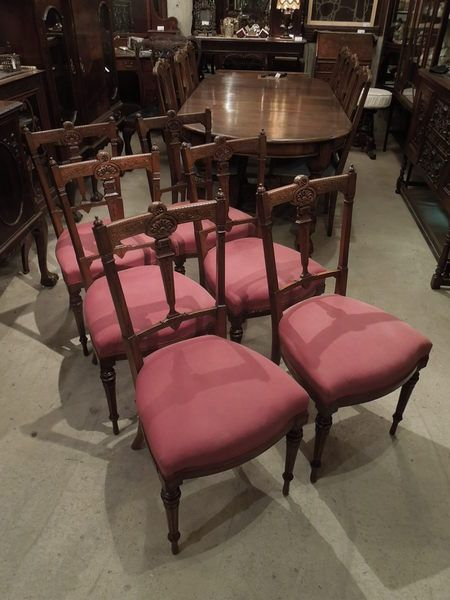 Carved saloon chairs 1880's