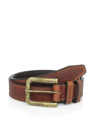 Vintage Bison Men's Saddleback Belt (Big Horn Peanut)