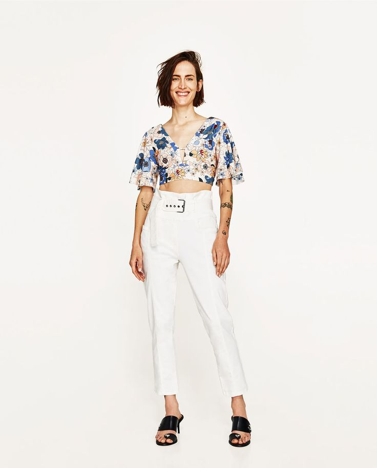 PRINTED CROP TOP-NEW IN-WOMAN | ZARA United States