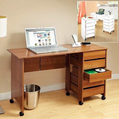 Foldaway Corner Desk Glass