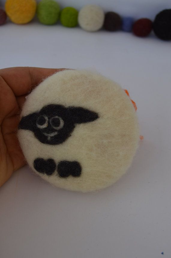 Felted Soap 100% merino wool natural soap exfoliating soap