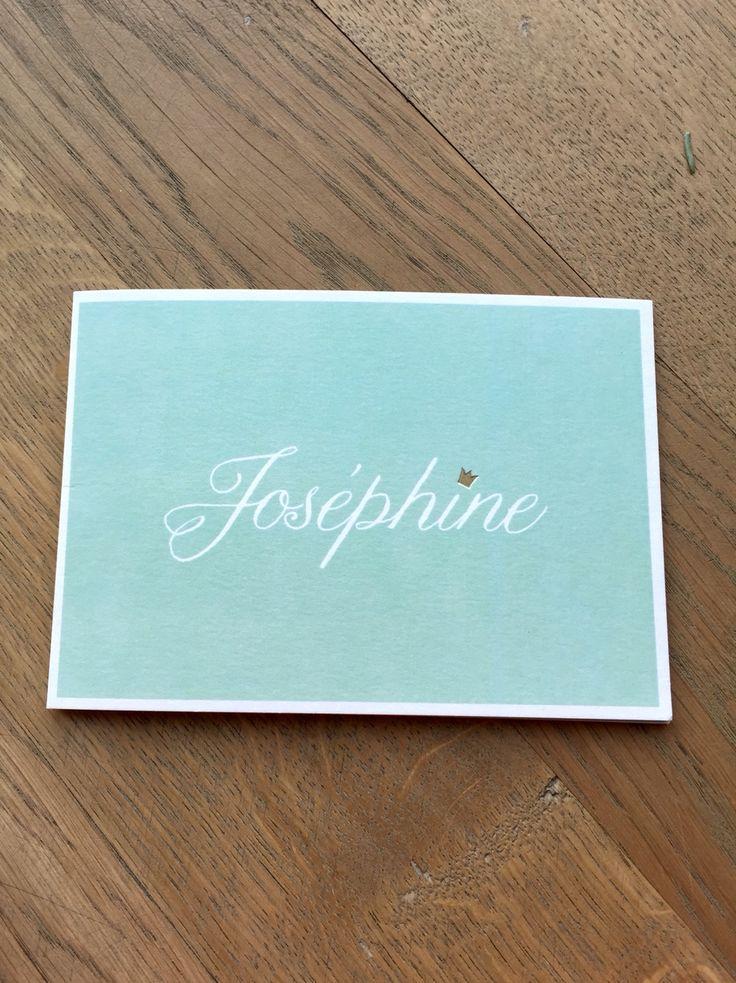Geboortekaartje Joséphine
